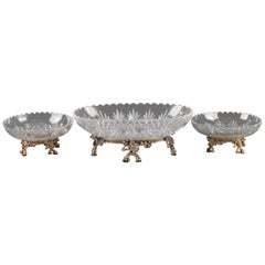 Cut-Crystal Centerpiece Attributed to Baccarat