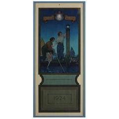 Art Deco Antique 1924 Maxfield Parrish the Venetian Lamplighter Full Calendar