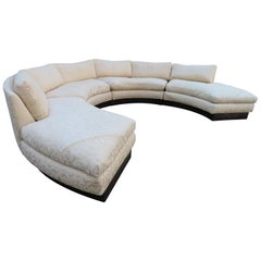 Stunning 4-Piece Erwin Lambeth Circular Curved Sofa Sectional Mid-Century Modern