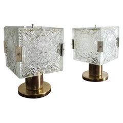 Set of Two Table Lamps Kamenický Šenov, 1960s