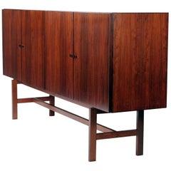 Mid-Century Modern Sleek Danish Modern Rosewood Credenza