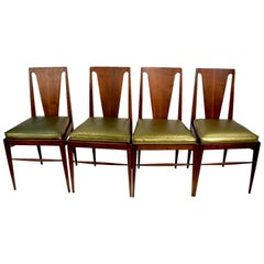Set of Four Mid Century Dining Chairs Attributed to Harvey Probber