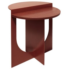 Plus Side Table Burnt Orange