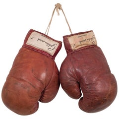 "Vintage Leather ""Golden Streak"" Boxing Gloves, circa 1940s"