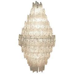 Monumental J. T. Kalmar Lucite Ice Crystal Chandelier