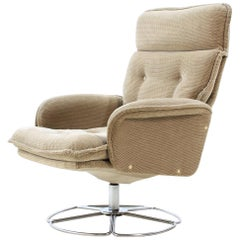 Retro Sweden Swivel Chair in Style of Bruno Mathsson, 1970s