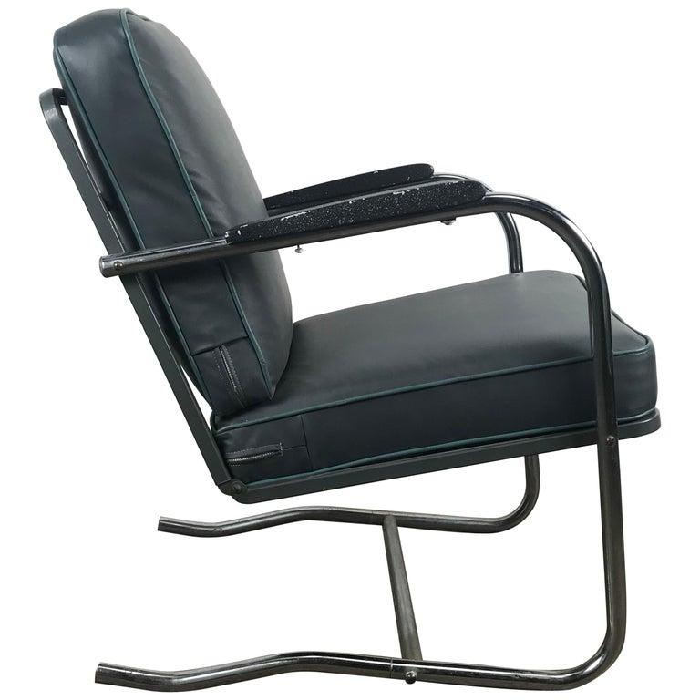 Classic Art Deco, Bauhaus Tubular Chrome Lounge Chair For Sale