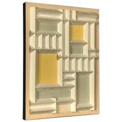 Abstract Expressionist Relief by Irving Harper Paper Sculpture Geometric Design