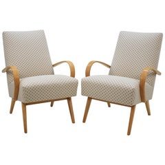 Set of Two Armchairs by Jindřich Halabala, 1960s