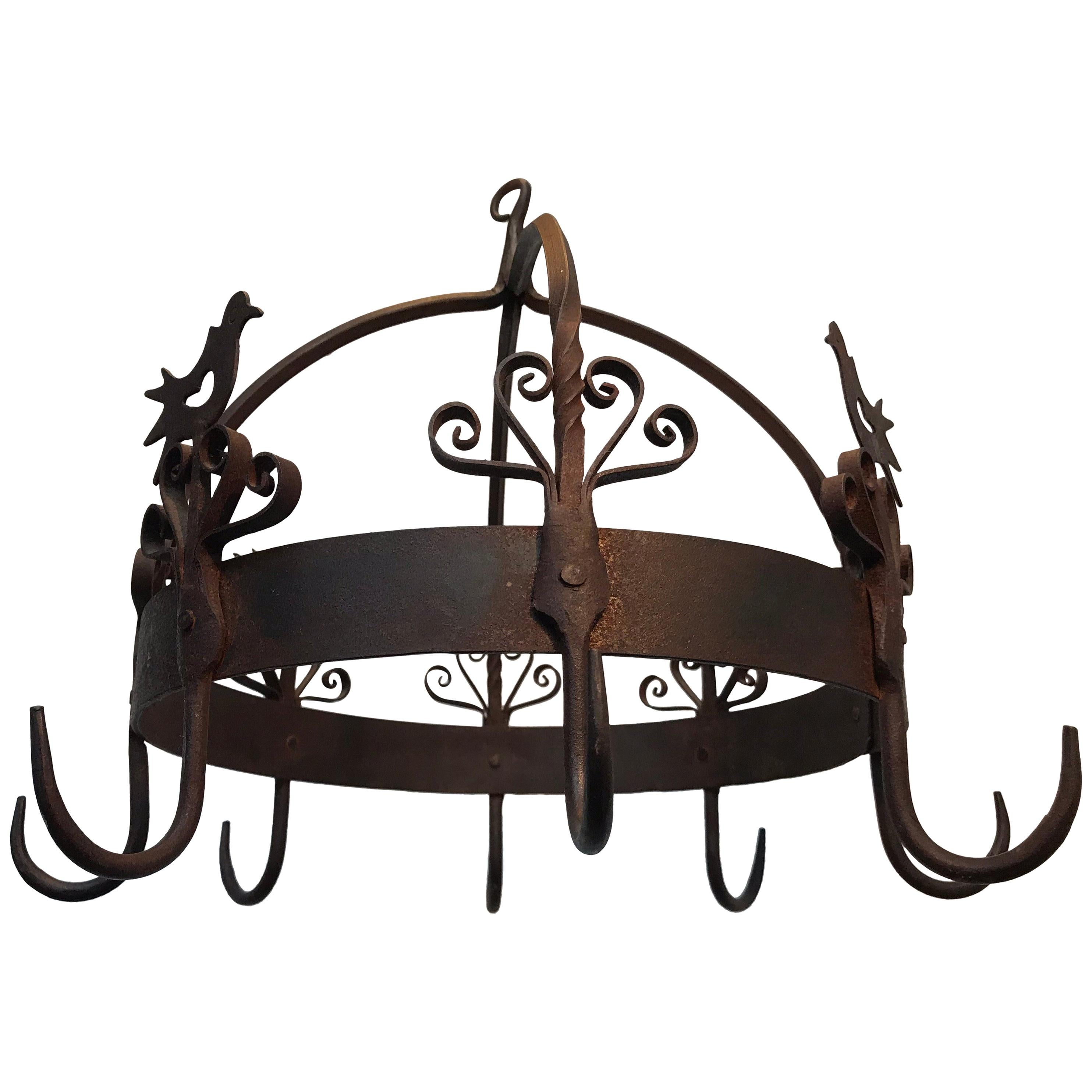 19th Century Antique Forged Iron Game Hook