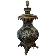 Ferdinand Barbedienne XIX°Cloisonné Table Lamp