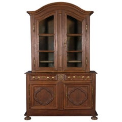 Cupboard Lotringen 18th Century with Display Case Top