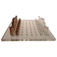 Stunning Mid-Century Modern Lucite Chess Set