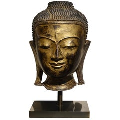 Buddha Head Cakyamuni, Burma, Early 19th Century
