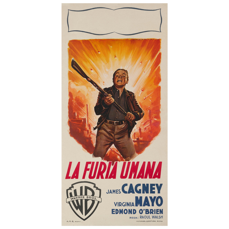 """White Heat / La Furia Umana"" Original Italian Film Poster"