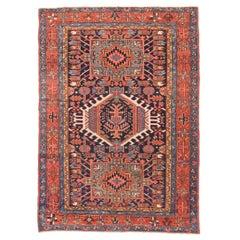 Antique Handmade Karaje Herris Persian Rug