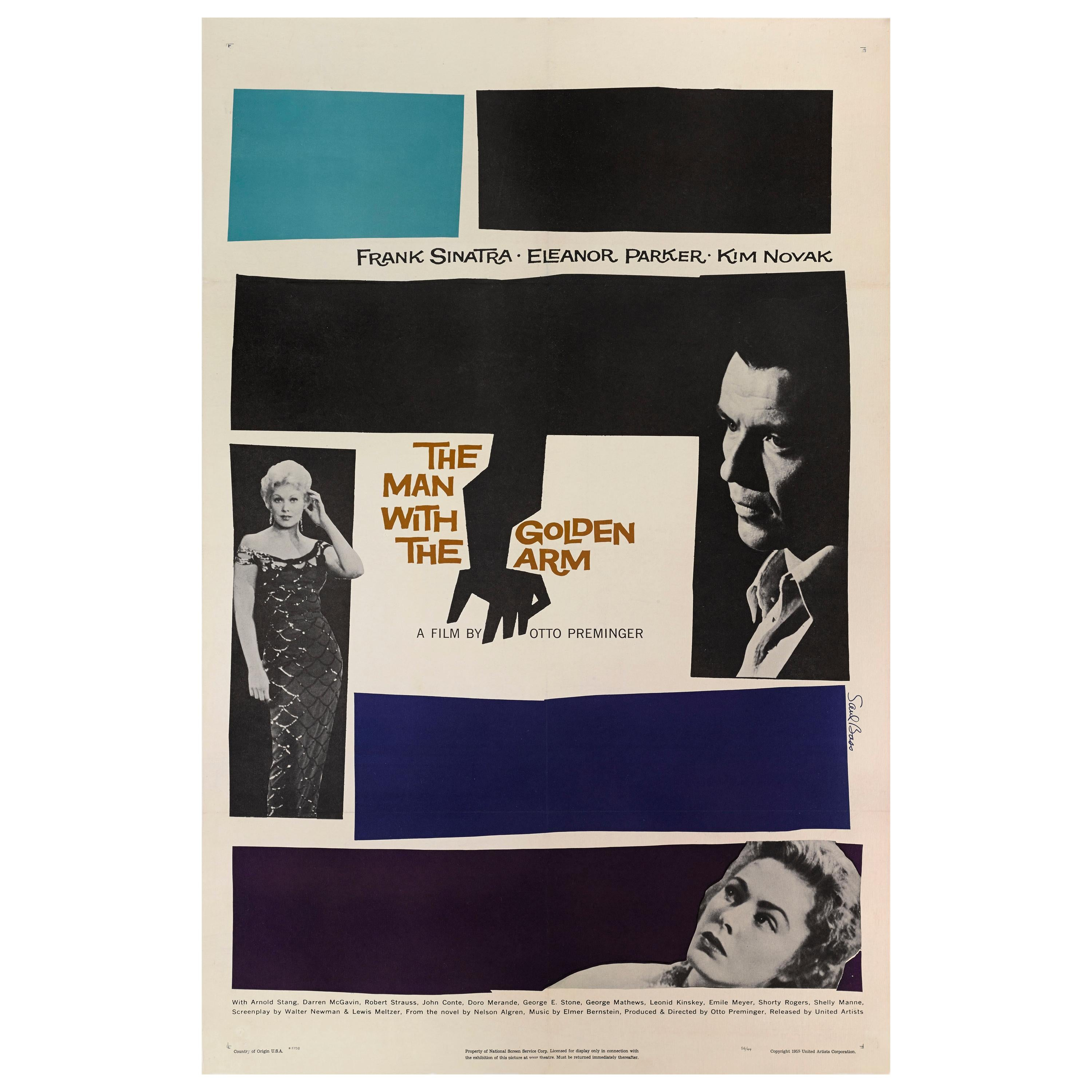 """""""The Man with the Golden Arm"""" Original US Film Poster"""