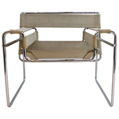1960s Wassily B3 Chair by Marcel Breuer for Gavina in Canvas