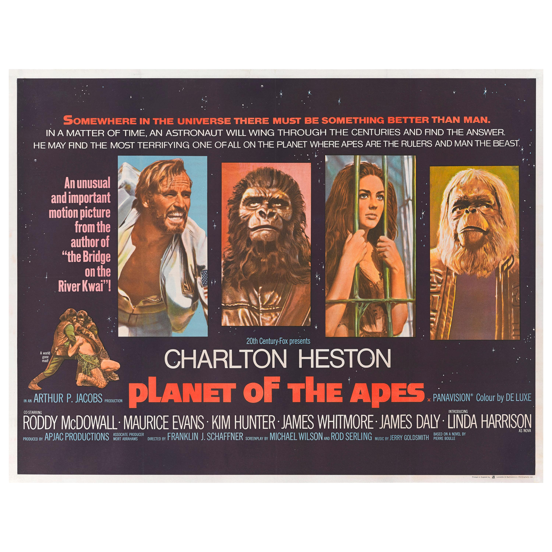 """Planet of the Apes"" Original British Film Poster"