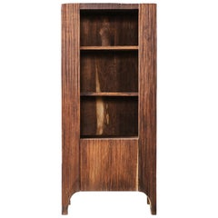 Contemporary Brutalist Style Cupboard in Solid Oak (dark)