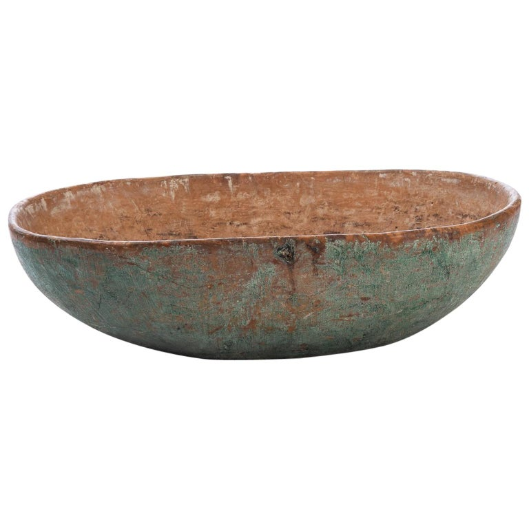 Early 19th Century Swedish Wooden Bowl in Original Condition