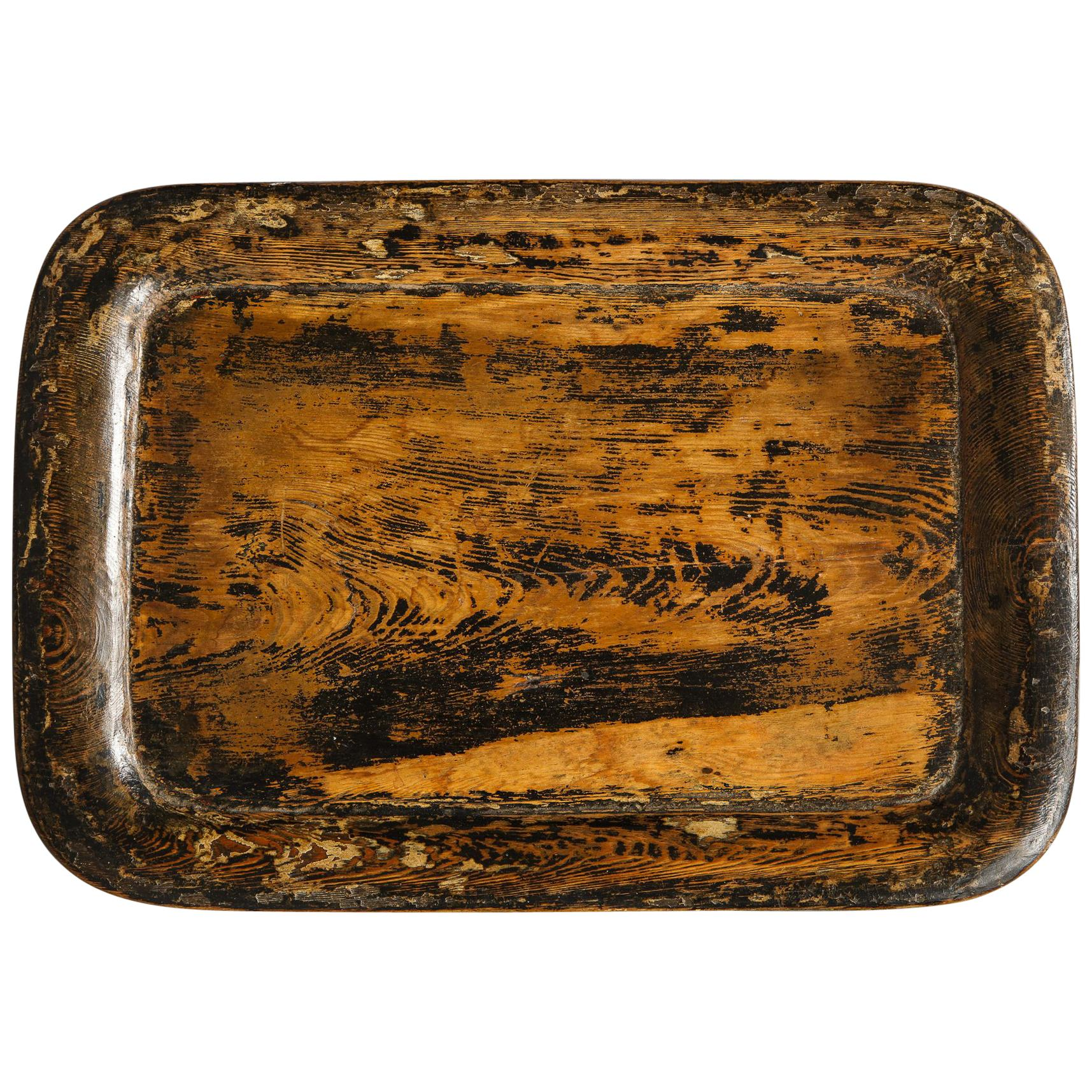 19th Century English Dish Carved Tray