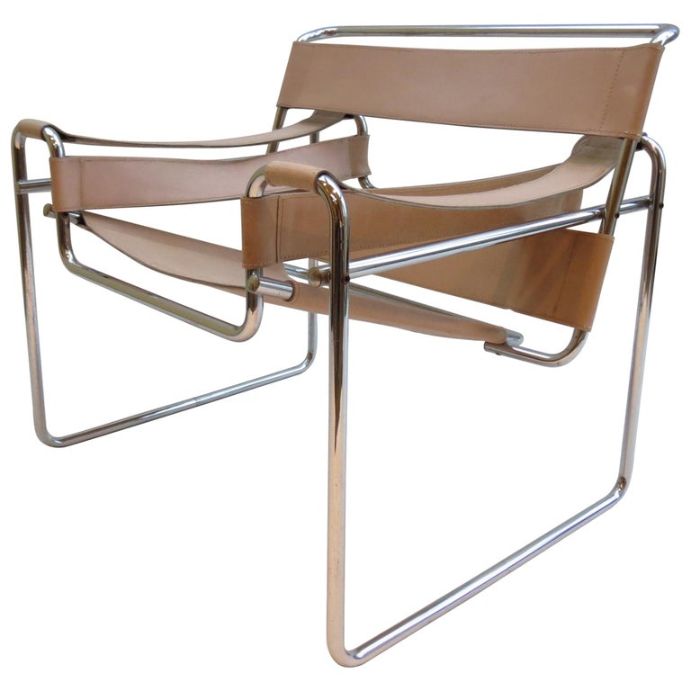 1960s Marcel Breuer B3 Wassily Chair by Gavina, Italy For Sale