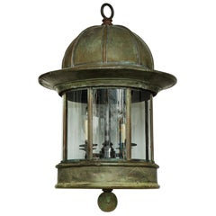 Dramatic Double Height English Country House Center Hall Hanging Lantern