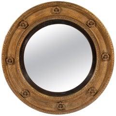 Late George III 18th Century Period Circular Giltwood Mirror