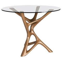 Amorph Ava Center / Dining Table, Gold Finish, Wood