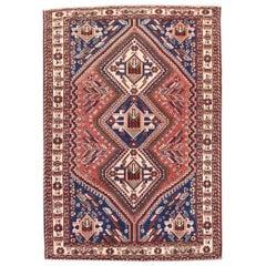 Semi Antique Handmade Qashqai Persian Rug