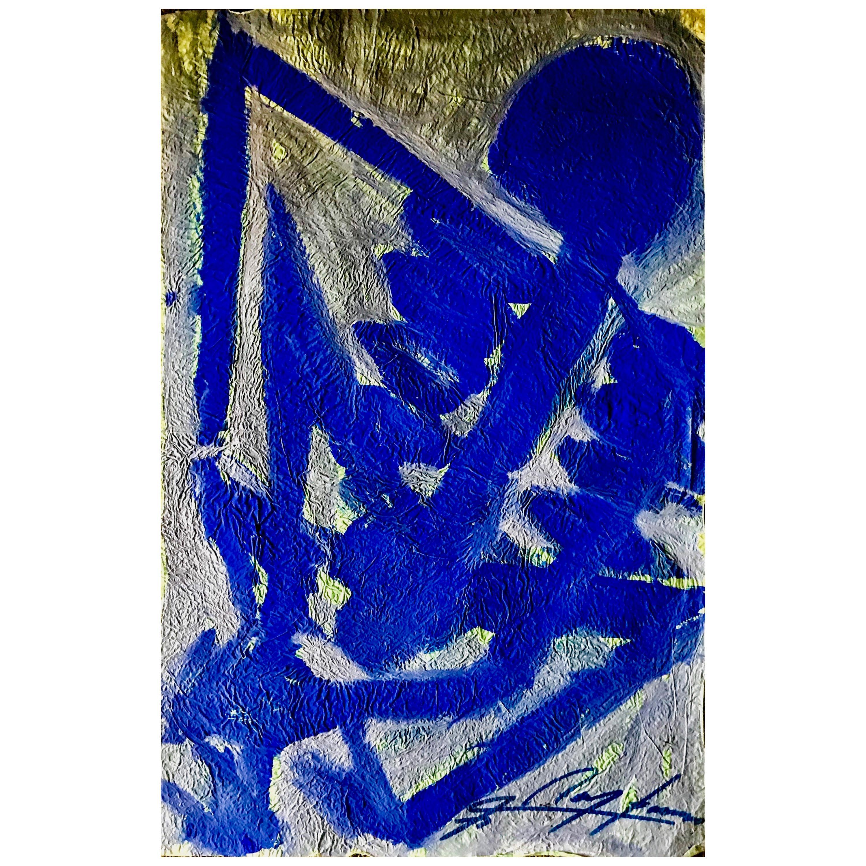 Jesús Chucho Reyes Ferreira, Blue Skeleton, Anilines on China Paper