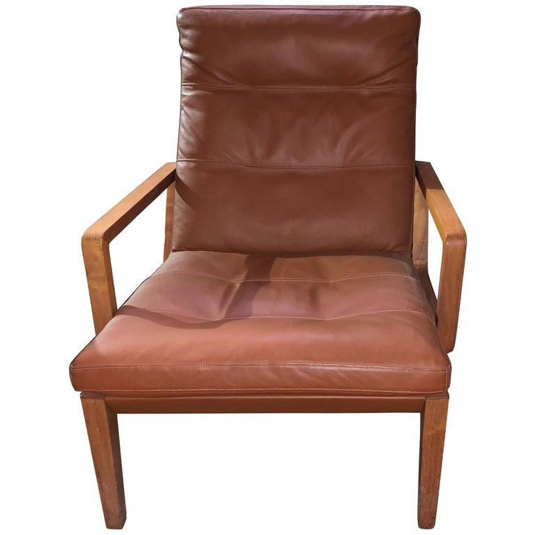 Walter Knoll Leather Andoo Armchair For Sale at 1stdibs