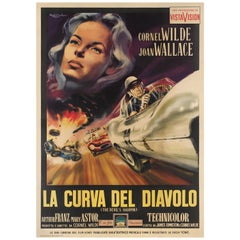 """The Devil's Hairpin / La Curva Del Diavolo"" Film Poster"