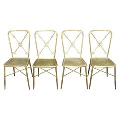 4 Italian Nautical Dining Chairs in the Manner of Gio Ponti