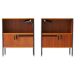 Restored Nightstands by Ico Parisi for MIM with Gino Sarfatti Lamps, 1958