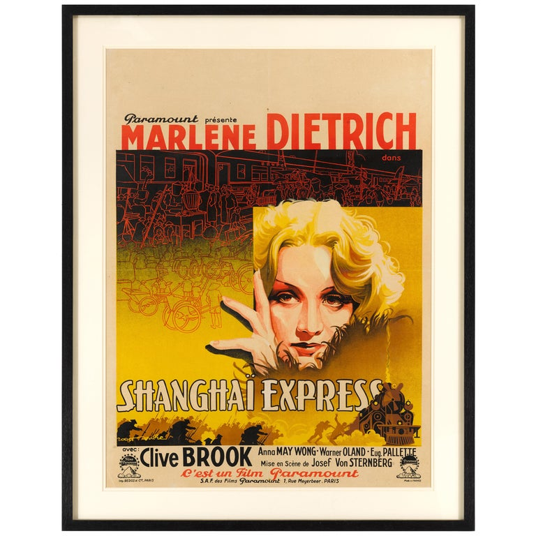 """Shanghai Express"" Original French Film Poster For Sale"