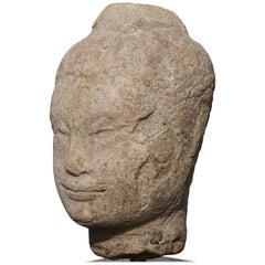 15th-16th Century Thai Sandstone Buddha Head