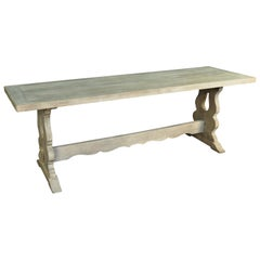 French 19th Century Trestle Table