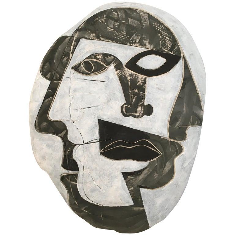 Doug Rochelle La Mano Pottery Cubist Mask For Sale