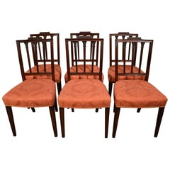 Superb Set of Late 18th Century Mahogany Dining Chairs