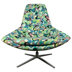 """Stunning Space Age Modernist Tilt-Swivel """"Pucci"""" Pod Lounge Chair"""
