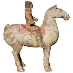 Han Dynasty Horse and Rider Terracotta, 206 BC - 9 AD