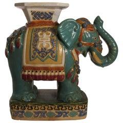 1960s Ceramic Elephant Garden Seat