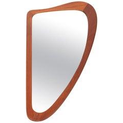 Danish Modern Midcentury Teak Harp Mirror #2