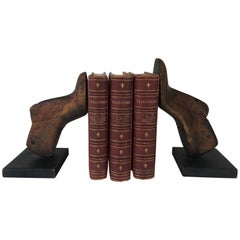 Pair of Vintage Wood Shoe Mold Bookends