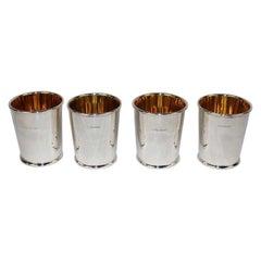 Four Scottish Cast Sterling Mint Julep Cups, Edinburgh, 2005