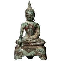 15th-16th Century Thai Ayutthaya Bronze Buddha Statue