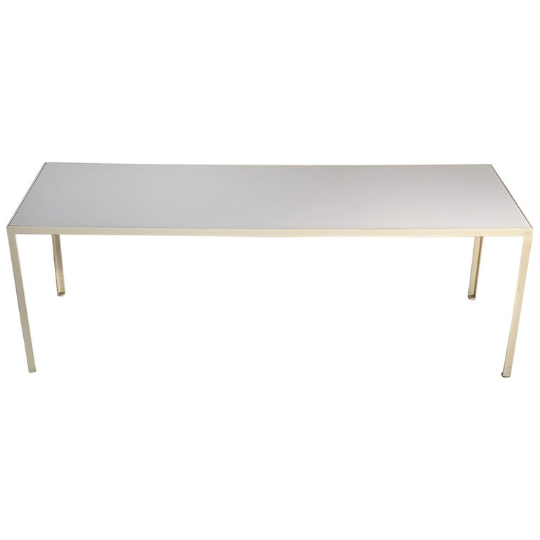 Vintage George Nelson Herman Miller Steel Frame White Coffee Table