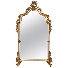 Vintage Ornate Gilt Mirror Attributed to Labarge